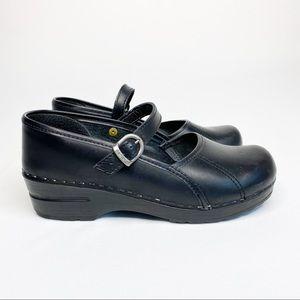 Dansko Mary Jane Professional Clogs Black Size 39